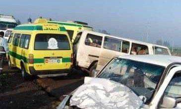 Photo of تصادم سيارتين على طريق منية النصر المنصورة أسفر عن إصابات