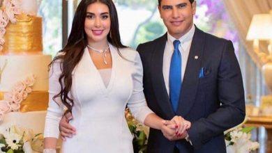 Photo of عقد قران أحمد أبو هشيمه و ياسمين صبرى فى أجواء عائلية