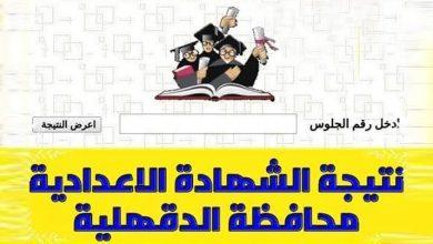 Photo of نتيجة الشهادة الإعدادية بالدقهلية 2020