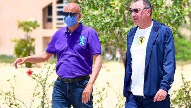 Photo of الخطيب يطمئن على سير العمل في مجمع الاسكواش بفرع الشيخ زايد