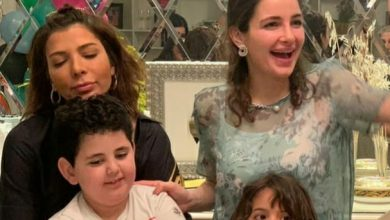 Photo of احتفال أصالة بعيد ميلاد توأمها في أجواء عائلية
