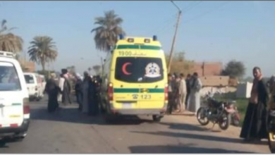 Photo of مصرع 3 أشخاص فى حادث تصادم سيارتين بالبحيرة
