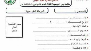 Photo of فتح باب التعينات للعمل بالمدارس الرسمية للغات بالدقهلية للعام الدراسي 2020-2021