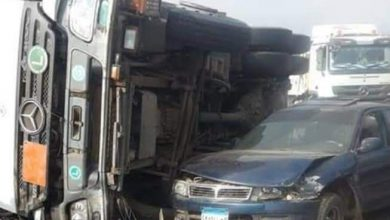 Photo of مصرع و إصابة أشخاص في تصادم سيارتي ملاكي و نقل
