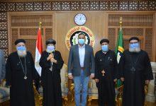 Photo of وفد الكنيسة القبطية بالمنصورة لتهنئة المحافظ  بعيد الأضحى المبارك