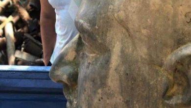 Photo of العثور على تمثال جمال عبد الناصر على ضفة قناة السويس