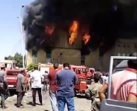 Photo of السيطرة علي حريق مخزن سلع غذائية بمدينة 6 أكتوبر