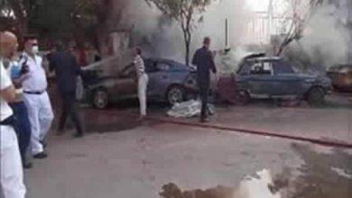 Photo of تفحم ثلاث سيارات وحريق كشك بجوار مستشفى العجوزة