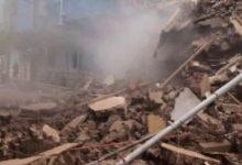 Photo of سقوط منزل سكني مكون من ٣طوابق بالمحله