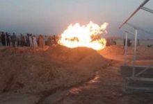 Photo of إشتغال  النار فى بئر للمياه بصحراء سوهاج
