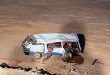 Photo of مصرع شخص وإصابه11 فى إنقلاب سيارة بطريق السويس الصحراوى