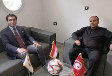 Photo of استقبال رئيس الاتحاد المصري بمقر الإتحاد الإفريقي للميني فوتبول