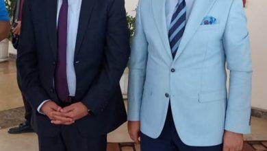Photo of اللواء عادل الغضبان ورئيس الاتحاد المصري للميني فوتبول