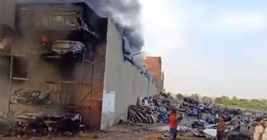 Photo of ماس كهربائى تسبب فى حريق مخزن خردة بمنطقة صفط اللبن
