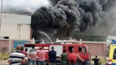 Photo of نشوب حريق في مصنع ملابس بمدينه العبور
