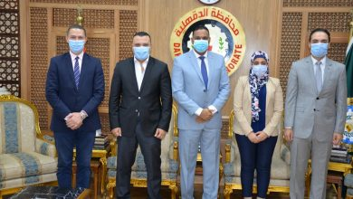 Photo of استقبال متدربي البرنامج الرئاسي للتأهيل للقيادة بمكتبه بديوان عام المحافظة