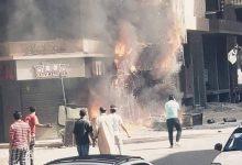 Photo of حريق هائل بمطعم في مدينة المنصورة