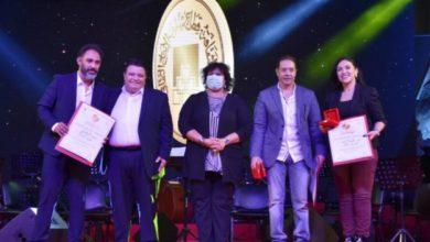 """Photo of إيناس عبد الدايم تكرم """" مدحت صالح """" فى احتفالات وزارة الثقافة"""