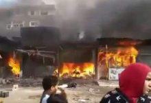 Photo of إصابه 4 أشخاص اثر نشب نيران في محلات بمدينه السلام