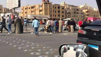 Photo of شاهد ماذا حدث علي طريق الموت بحدائق الأهرام