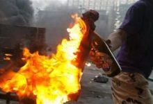 Photo of زجاجة مولوتوف تسببت في حرق شاب بالجيزة