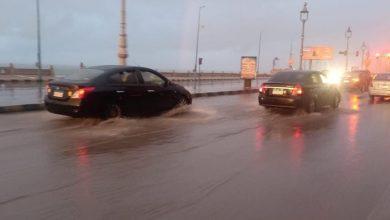 Photo of كثافة مرورية لزيادة الأمطار بكورنيش الاسكندرية