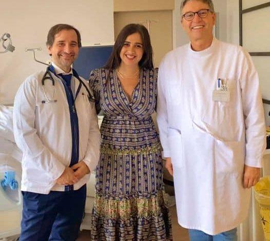 ياسمين عبد العزيز من داخل المستشفى في سويسرا بعد تعافيها
