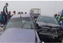 Photo of إنقلاب سيارة ميكروباص علي طريق الحامول كفر الشيخ مما أدي إلي إصابة 9 اشخاص